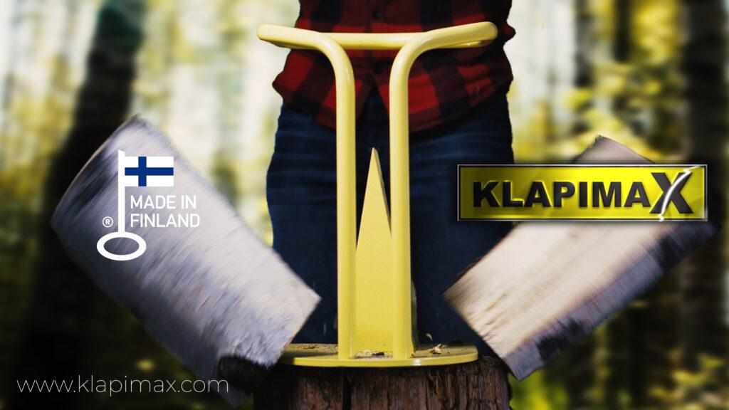 KlapimaX halkoma-alasin - turvallisinta polttopuiden tekoa